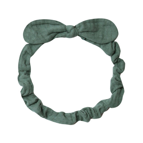 Rylee and Cru Headband for Babies with Bow Green Spruce Baby Headband