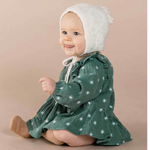 Rylee Cru baby girl green star blouse