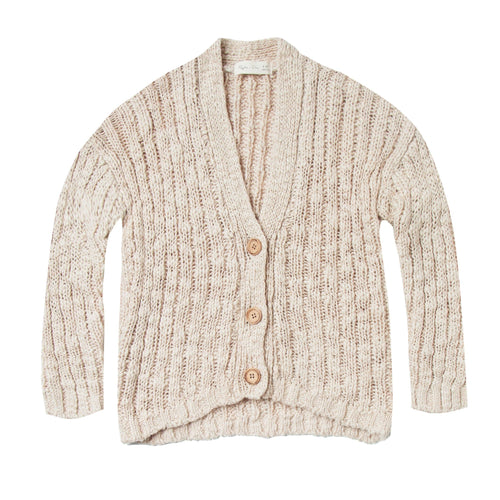 Rylee and Cru Ivory Kids Cardigan Sweater with Button Front