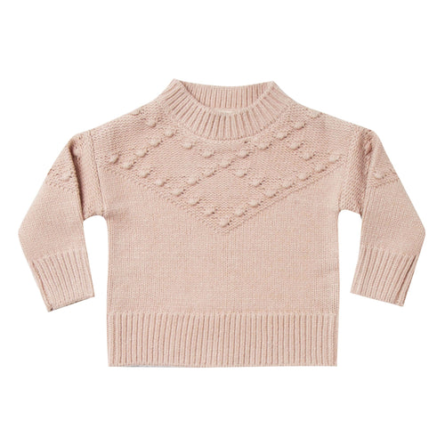 Rylee and Cru Girls Sweater Rose LOng Sleeve Bobble Sweater for Girls