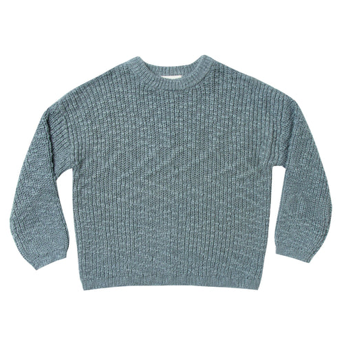 Rylee and cru blue waffle boys sweater