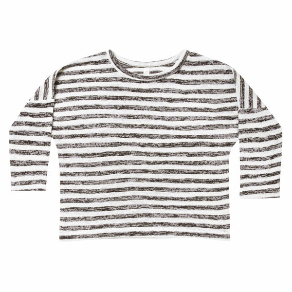 Rylee and cru black and ivory stripe kids tshirt