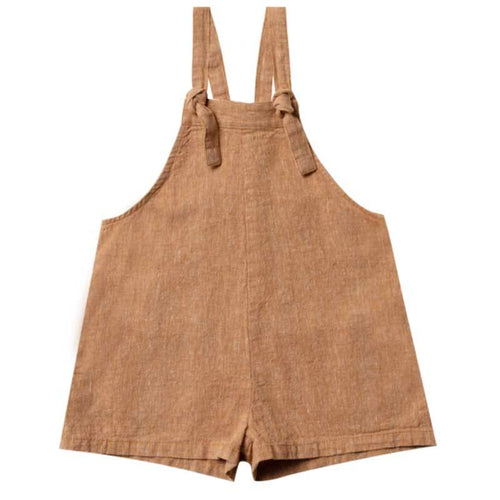 Rylee and Cru bronze girls shorts overalls