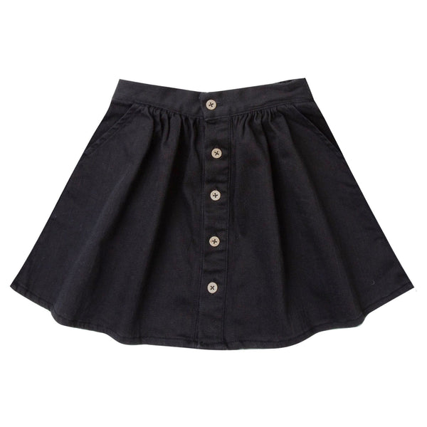 Rylee and Cru black button girls skirt