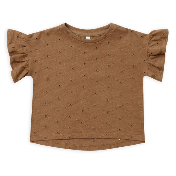 Rylee and cru brown eyelet girls t-shirt
