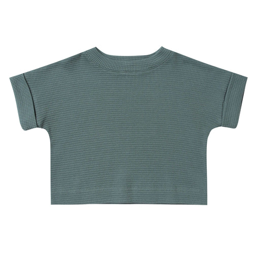 Rylee and Cru cropped green girls tee shirt