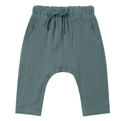 Rylee and Cru green cotton crepe boys pants