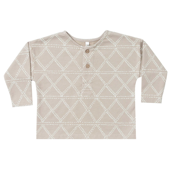 Rylee and cru geometric print boys henley t-shirt