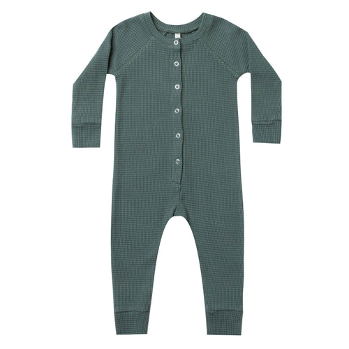 Rylee and Cru Green Thermal Long John Baby Sleeper