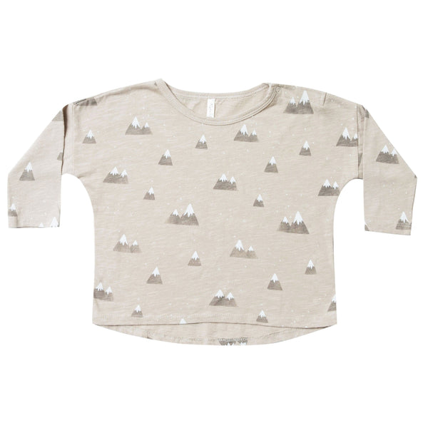 Rylee and cru grey mountain print boys tshirt