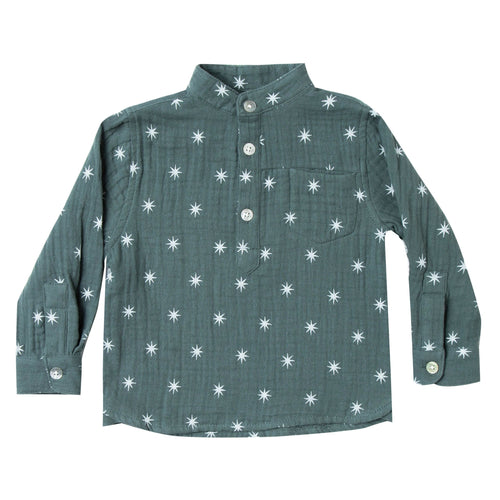 Rylee and Cru green star print boys shirt