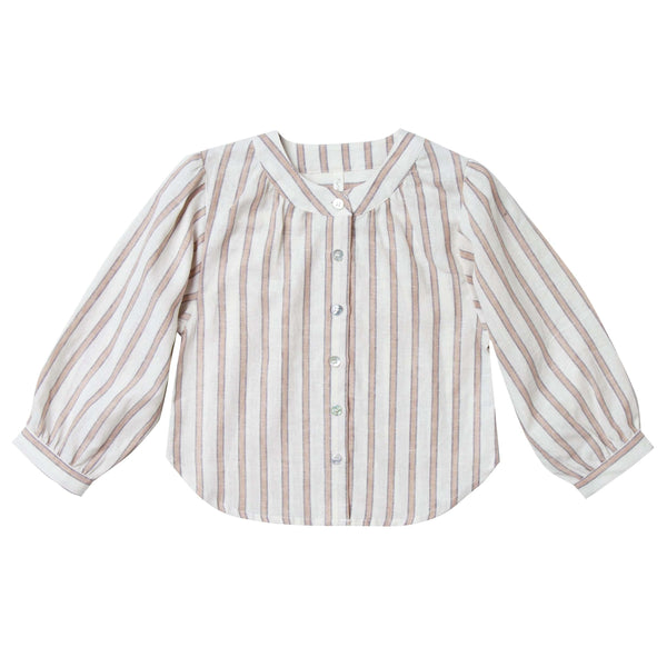 Rylee and Cru striped girls long sleeve blouse