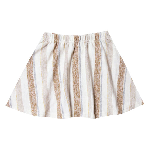 Rylee and cru brown and ivory stripe girls skirt