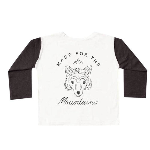 Rylee and Cru mountain and wolf henley boys tee