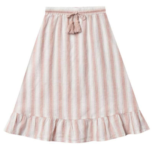 Rylee & Cru pink stripe girls maxi skirt