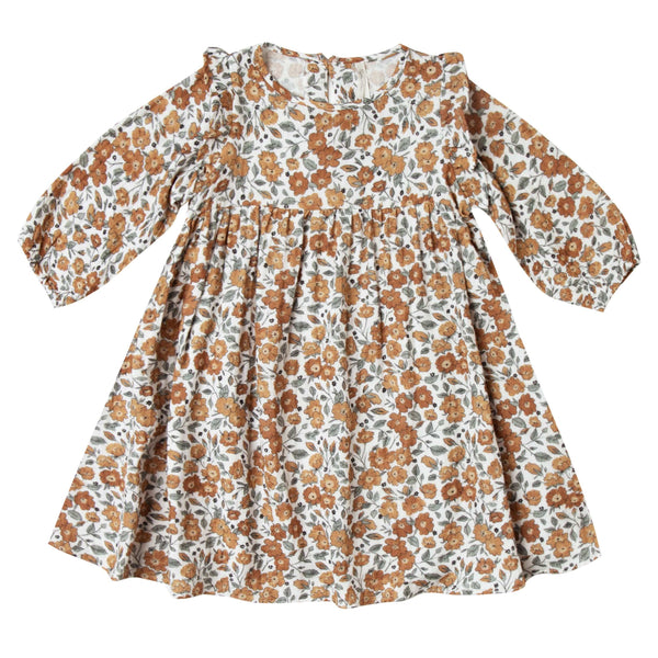 Rylee and cru floral print long sleeve girls dress