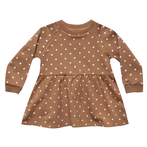 Rylee and cru brown star print girls dress