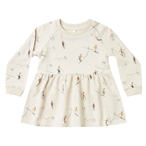 Rylee and Cru Girls Ivory Ski Print Girl and Toddler dress