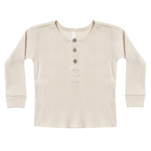 Rylee and Cru ivory ribbed t shirt for kids