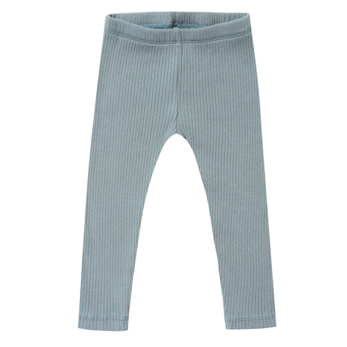 Rylee and cru blue ribbed girls and toddler leggings