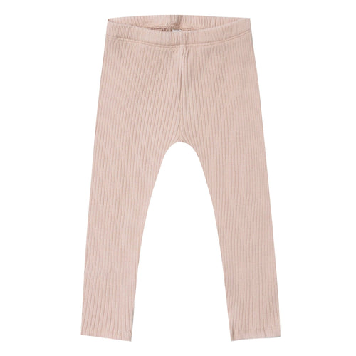 Rylee and Cru pink ribbed toddler and girls leggings