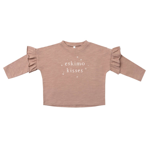 Rylee and Cru truffle pink girls tee shirt with eskimo kisses