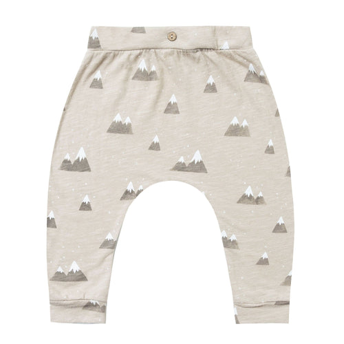 Rylee and cru baby pants grey mountain print baby boy pants
