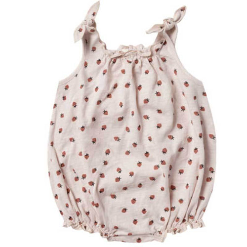 Rylee and Cru strawberry baby girl bubble romper