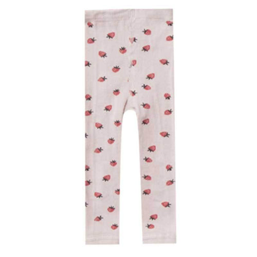 Rylee and Cru strawberry baby, girl, and toddler leggings