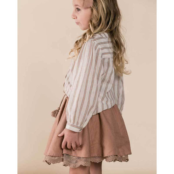 Rylee and Cru striped girls blouse
