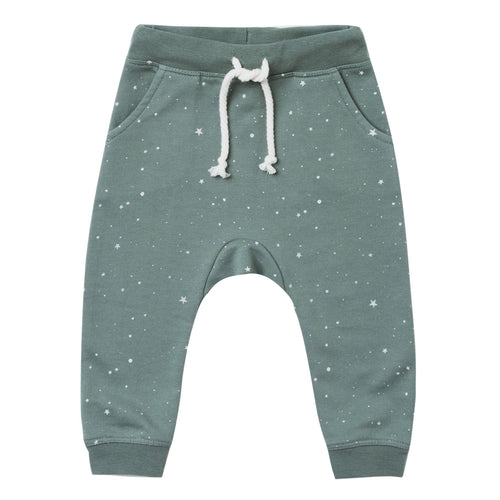 Rylee and Cru green star printed boy jogger pants