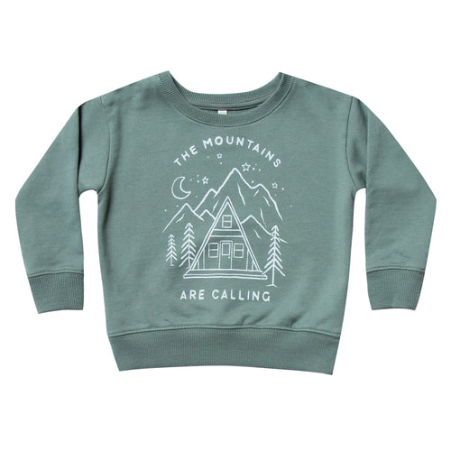 Rylee and Cru green  mountains graphic boys sweatshirt