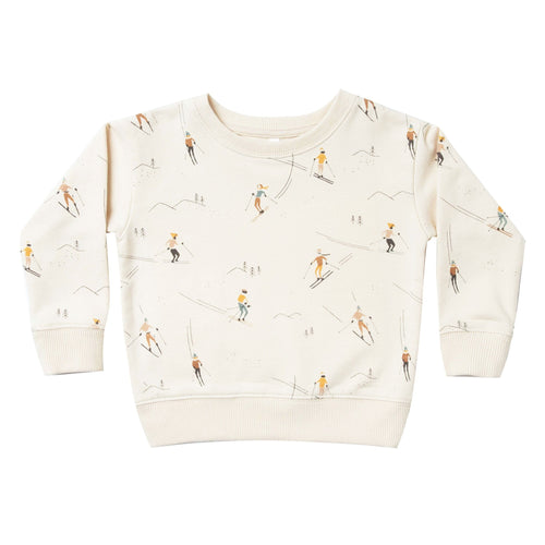 Rylee and Cru Girls Sweatshirt Off White Ski Wheat Sweatshirt for Girls and Boys and Unisex