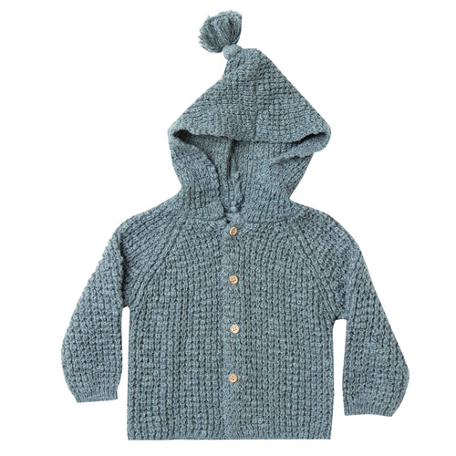 Rylee and Cru hooded blue baby cardigan