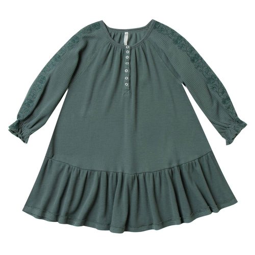 Rylee and Cru green thermal girl and toddler dress