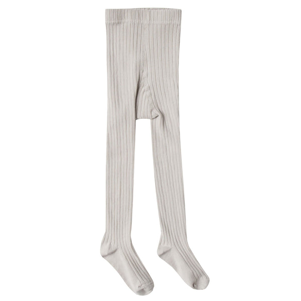 Rylee and cru grey ribbed girls tights