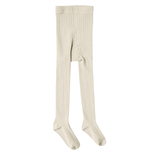 Rylee and Cru Girls Tights for Baby Off White Solid Ribbed Wheat Tight Leggings for Babies