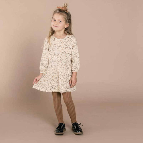 Rylee and Cru wheat print girls dress