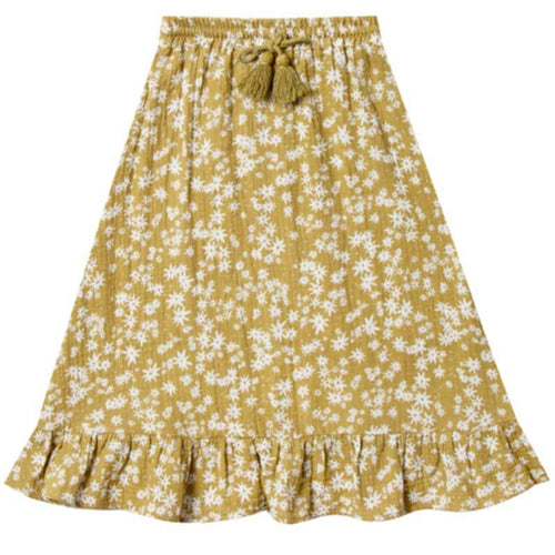 Rylee & Cru yellow floral girls maxi skirt
