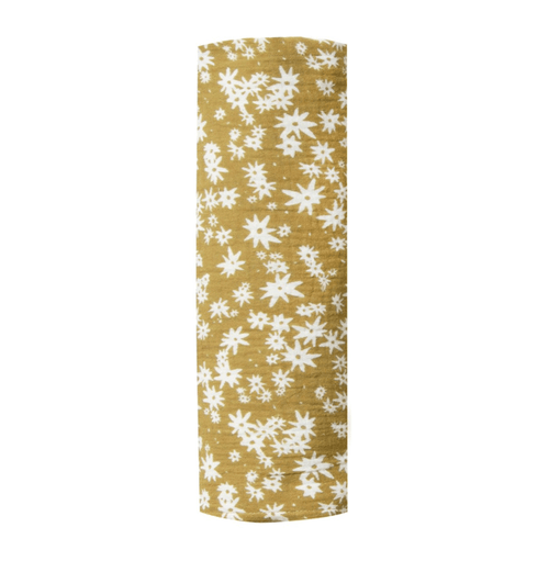 rylee and cru yellow floral swaddle blanket