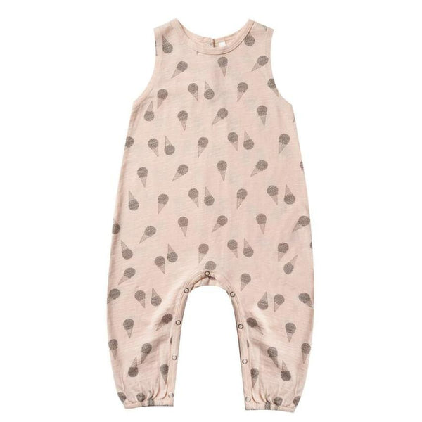 Rylee and cru pink sleeveless ice cream print baby girl romper