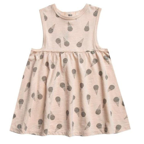 Rylee and cru pink ice cream print sleeveless dress for girls