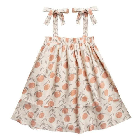 Rylee and Cru Peaches Shoulder Tie Girls Dress