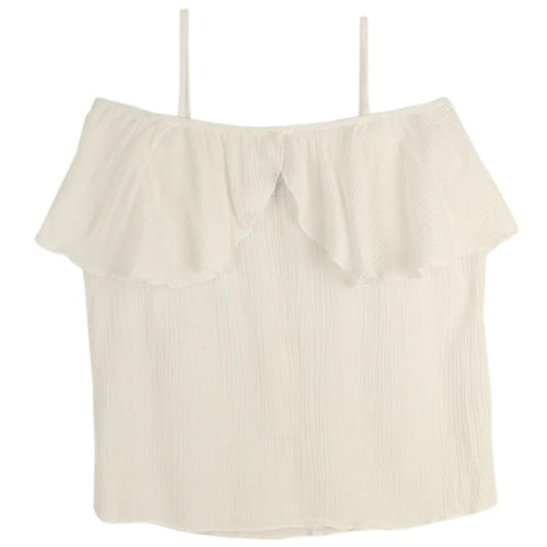 T2Love White Ruffle Girls Tube Top