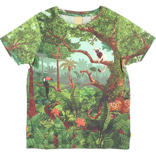 Jungle printed boys short sleeve tee
