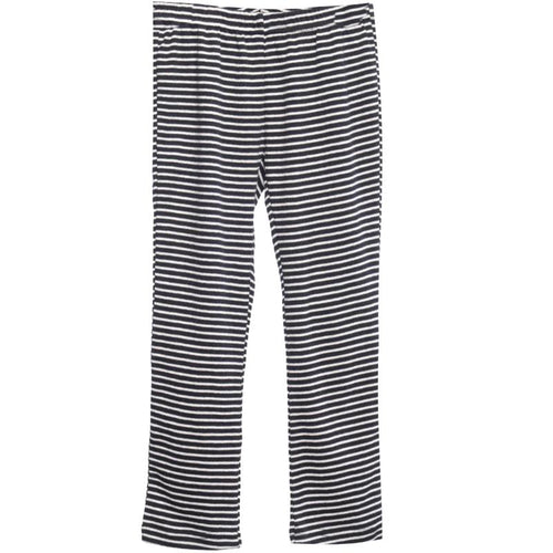 Girls black stripe knit leggings