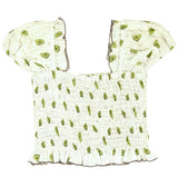 Skemo Grey Dots Avocado Girls Top