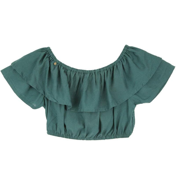 Skemo Teal Dominica Girls Top
