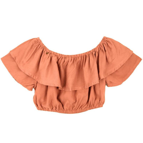 Skemo Dusty Pink Dominica Cropped Girls Top