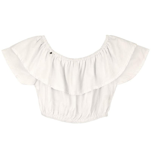 Skemo White Dominica Cropped Girls Top